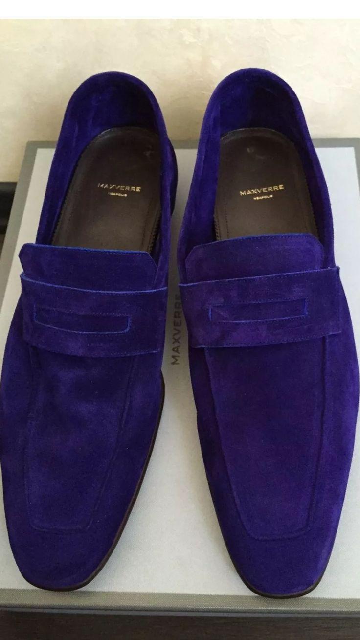 MaxVerre purple suede loafer. GFA
