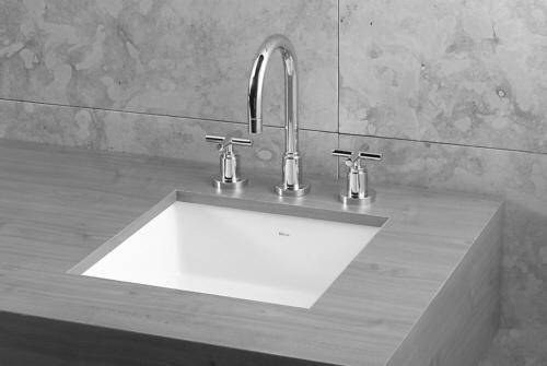 Deca 16 square undermount sink bath design pinterest - Square stainless steel bathroom sink ...