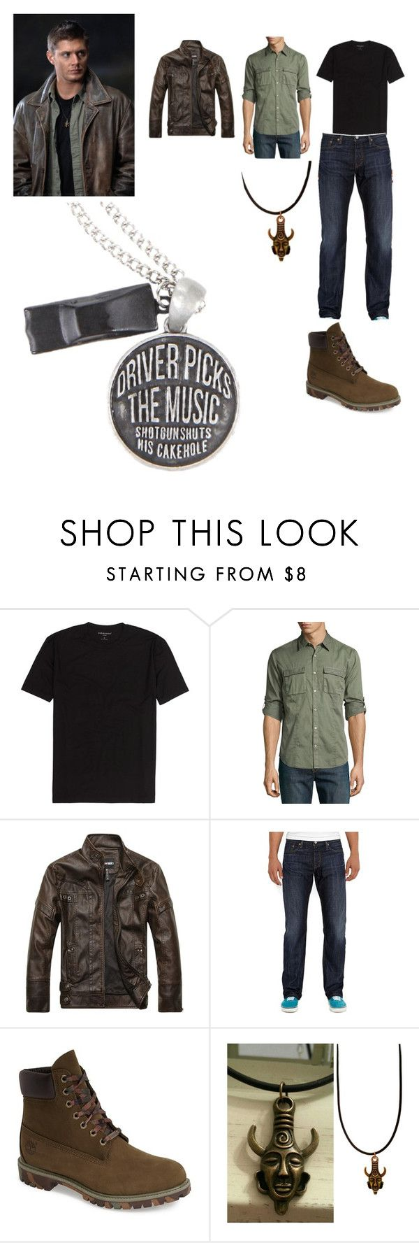 """""""Dean Winchesters Outfit"""" by trinaglover18 ❤ liked on Polyvore featuring John Varvatos * U.S.A., Levi's, Timberland, men's fashion and menswear"""