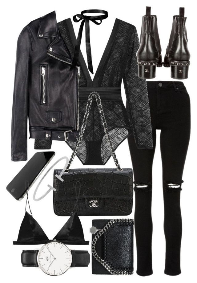 """""""Untitled #21917"""" by florencia95 ❤ liked on Polyvore featuring Eres, Chanel, STELLA McCARTNEY, Acne Studios, T By Alexander Wang, Daniel Wellington and Humble Chic"""
