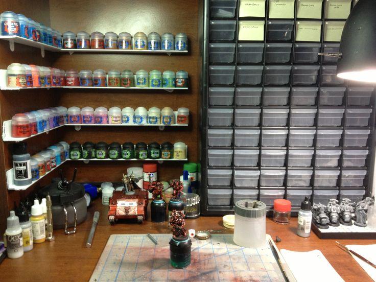 Diy Paint Shelves Total Cost 15 00 Hobby Hobby Desk