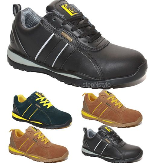 MENS LADIES STEEL TOE CAP TRAINERS SAFETY SHOES LACE UP WORK LOW BOOTS