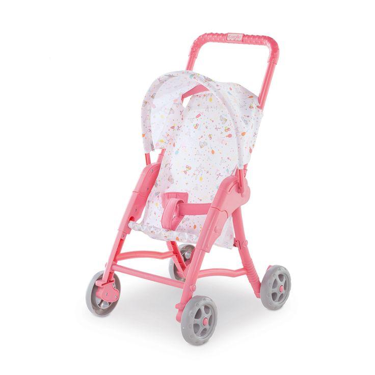 Une poussette robuste avec sa protection soleil pour que vos enfants y mettent leur poupée et puissent les promener partout avec eux.