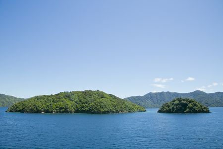 Cook Strait islands in the sun Photo by Orla Casey -- National Geographic Your Shot
