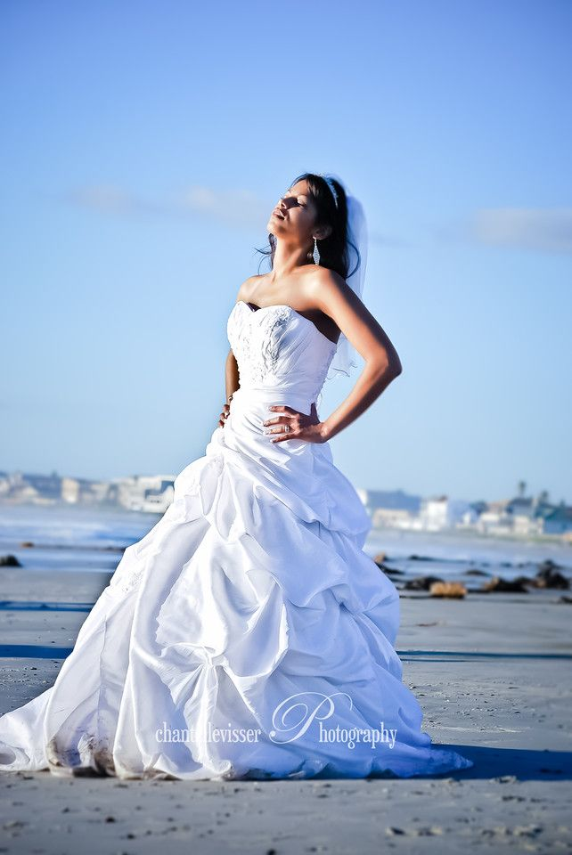 Sunkissed Bride on the Beach at Sunset  | Weddings - Chantelle Visser Photography