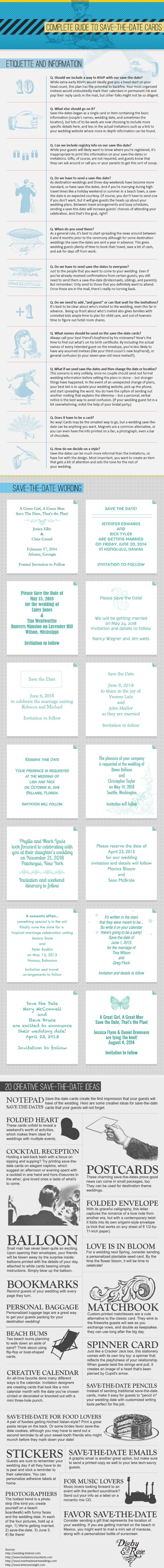 Guide to #Save-The-Date Cards #Wording