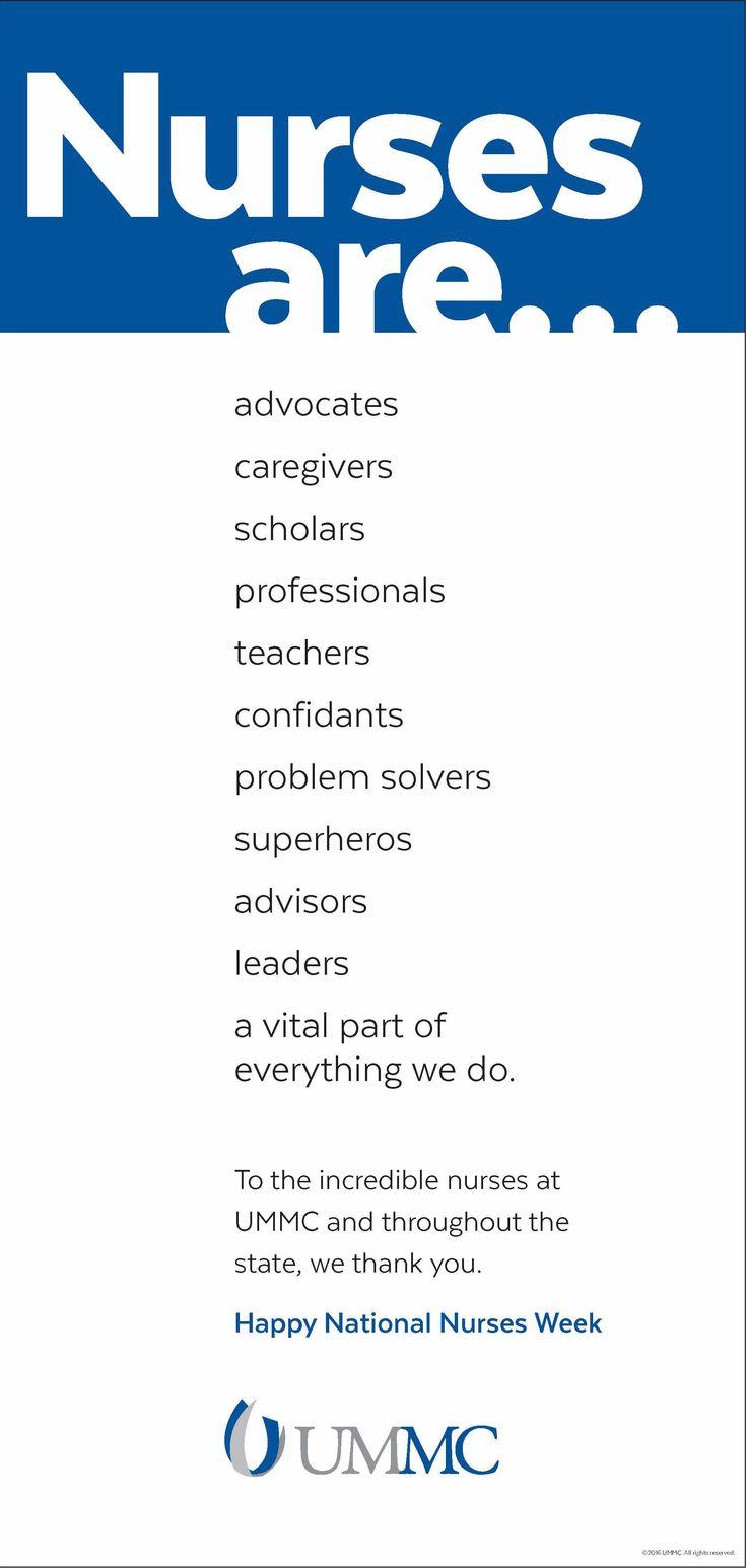 University of Mississippi Medical Center - National Nurses Week 2016 - Print Ad (May 2016)