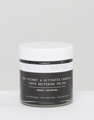 Sister & Co Raw Coconut & Activated Charcoal Tooth Whitening Polish 60ml $41.00