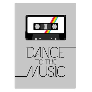 Dance To The Music Print II, £18.50, now featured on Fab.