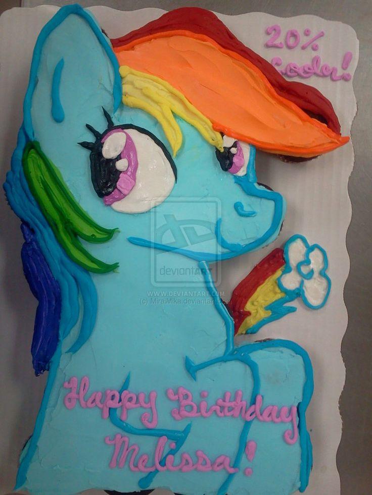 Rainbow Dash Cupcake Cake By MiraiMika cakepins.com