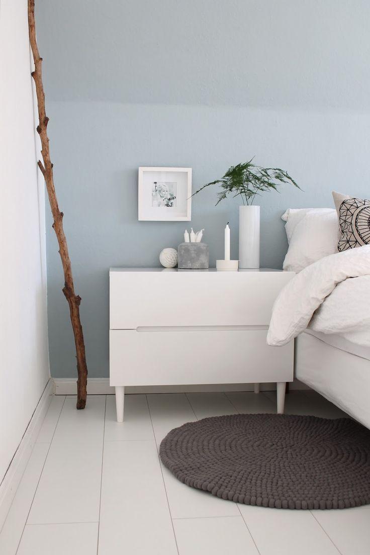 die besten 20+ wandfarbe schlafzimmer ideen auf pinterest ... - Schlafzimmer Wandgestaltung Mit Weien Mbeln