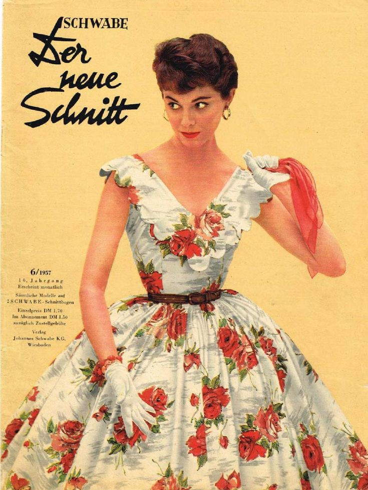 Neuer schnitt 06 1957  Vintage sewing pattern magazine scanned by a fellow collector. Scan not full, pages without clothing omitted. See more scans of vintage sewing pattern magazines and read about sewing with them on www.robot-heart.blogspot.com.
