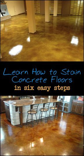 Prepare Stain And Seal Any Concrete Floor In Six Easy