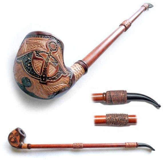 Long Smoking Pipe Wooden pipe Tobacco Pipe от Tobaccopipesshop