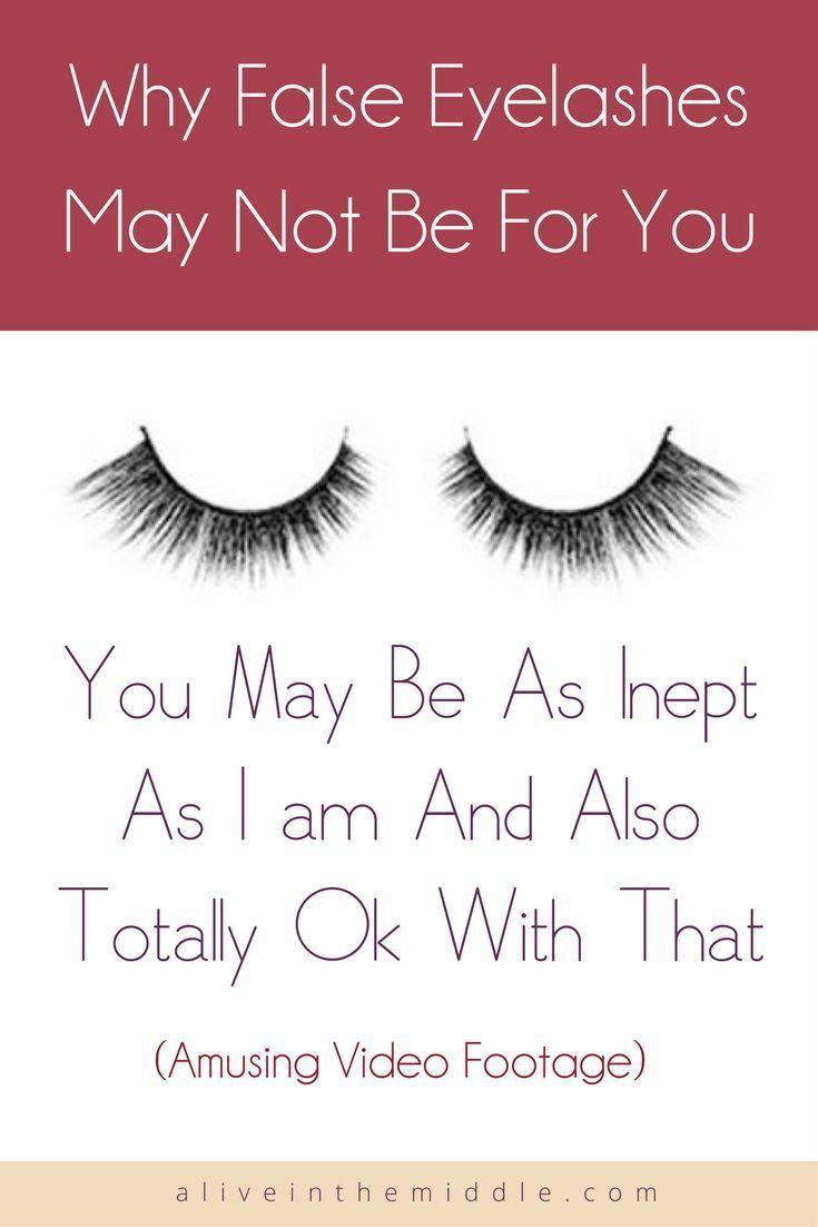 Applying false lashes for beginners, false lashes for women over 40, how false lashes go wrong, funny false lashes, silly false lashes video #applyinglashes