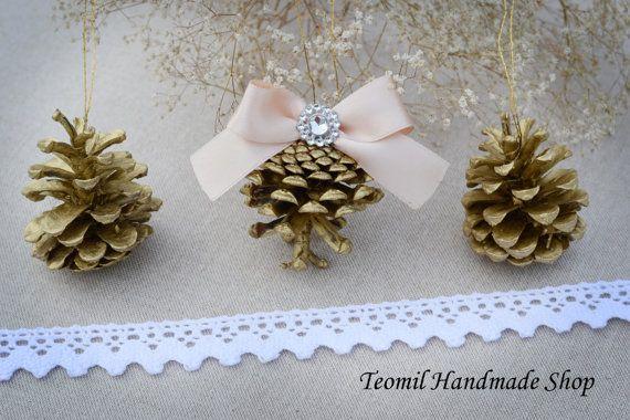 Kerst ornamenten kerstversiering rustieke Pine Cone door Teomil