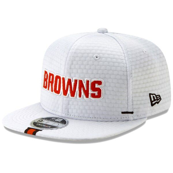 be6c5465 Men's Cleveland Browns New Era White 2019 NFL Training Camp Original ...