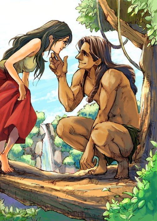 Disney Fan Art - Tarzan and Jane