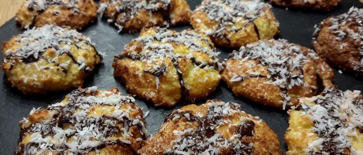 Kokoskoekjes met chocola -koolhydraatarm recept
