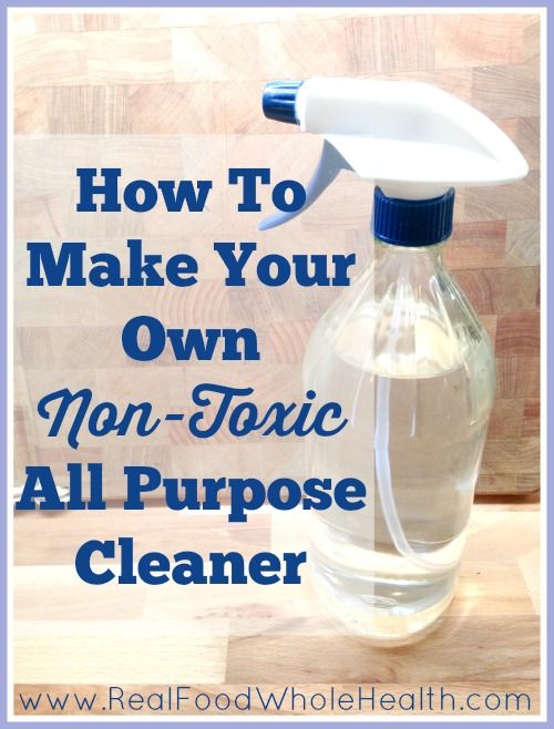 Check this out!! An easy recipe that saves time and money! How To Make Your Own Non-Toxic All Purpose Cleaner from realfoodwholehealth.com