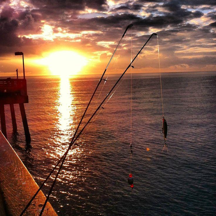 Pier fishing, 5am