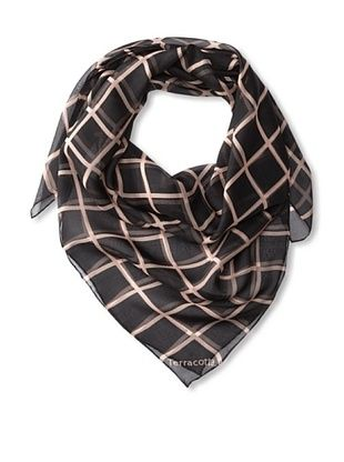 61% OFF Terracotta New York Women's The Charlie Checkers Scarf, Pink/Graphite