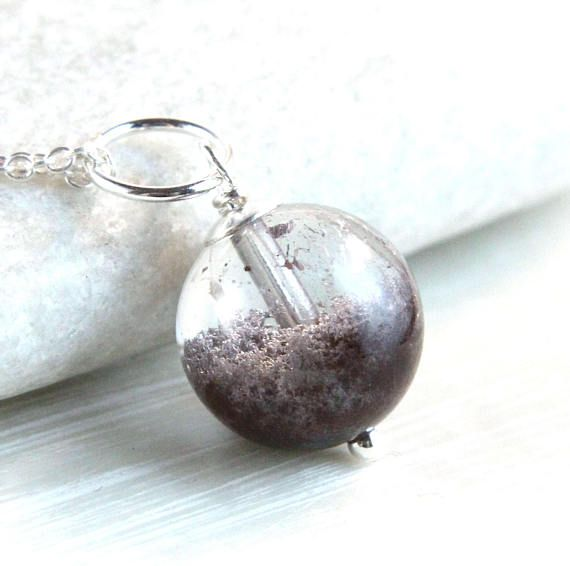 Phantom Quartz  Necklace Sterling Silver Gemstone Jewelry  Gem