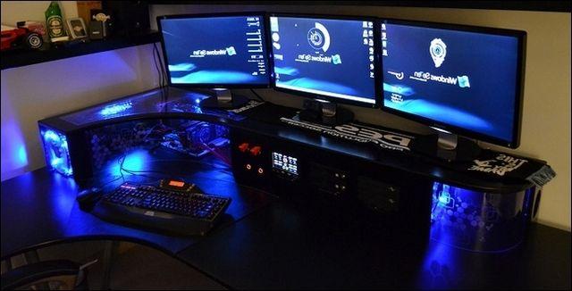 custom computer desk caseinterior design ideas desk interior tech shit pinterest custom computer desk and tech - Custom Desk Design