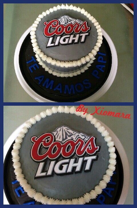 Coors Light Cake My Hobby In 2019 Dad Birthday Cakes