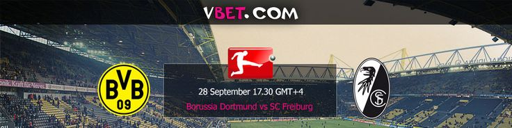 Live stream and live betting from Vbet Bookmaker Borussia Dortmund vs SC Freiburg 28/09 at17:30 GMT+4   After their successes in the beginning, Borussia is having kind of crisis now. On the other hand, none of their rivals could show proper resistance. But when the turn came to more serious teams, turned out Borussia has problems in defense (Hummels and Subotić ); the transition from attack to defense.