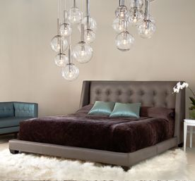 Shaw Bed By American Leather  Upholstered Shaw Bed Designers Goodman  Charleton Are Known For The New York Hotel Design That Blends Comfort With  High Glam.