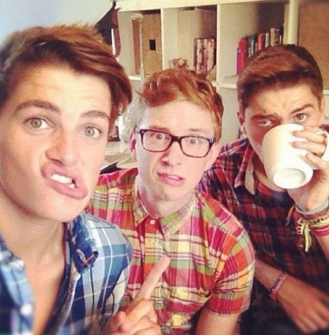 #JacksGap Jack and Finn Harries with Tyler Oakley- gay ...
