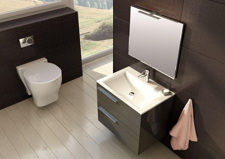 Marsylia 70 2S antracyt/anthracite. #elita #meble #lazienka #marsylia #bathroom #furniture