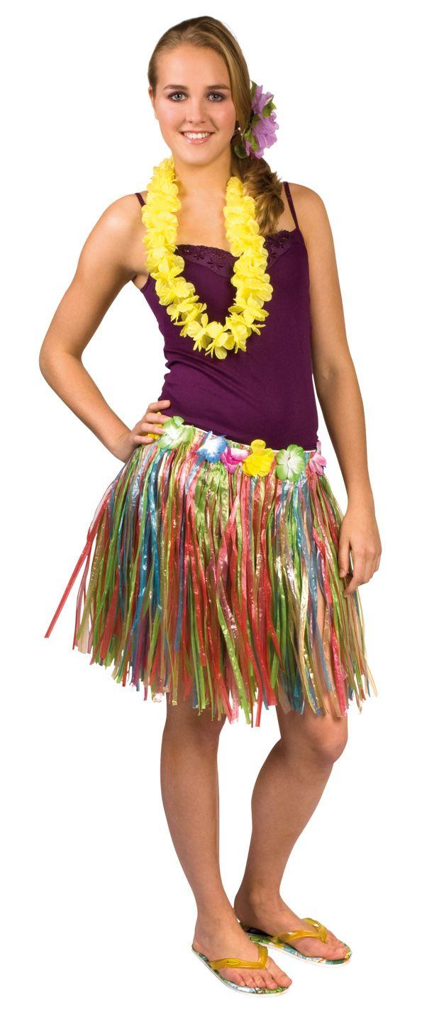 Veelkleurige Hawaïbloemen krans voor volwassenen : Vegaoo Volwassenen Kostuums