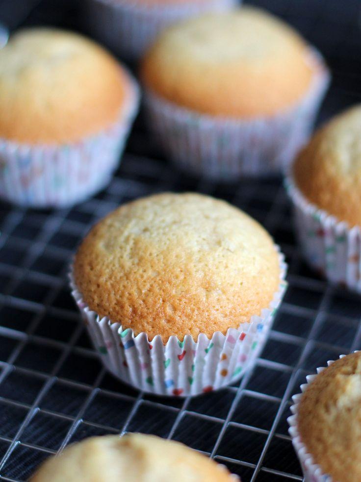 Zelfgemaakte cakemix vanille cupcakes
