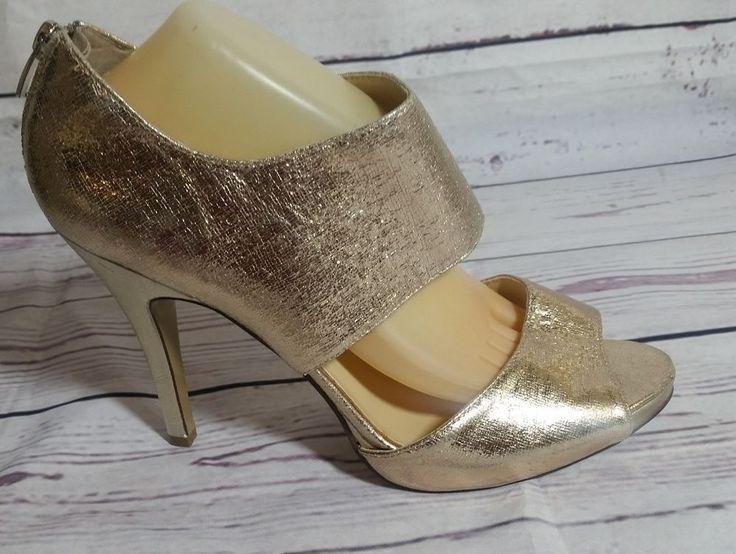 Nine West Women 11M Gold Peep Toe Heels   Clothing, Shoes & Accessories, Women's Shoes, Heels   eBay!