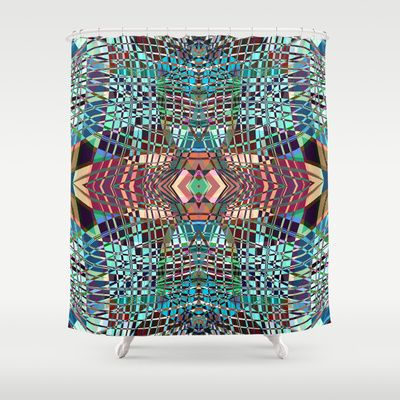 SWEEPING LINE PATTERN II-A3 Shower Curtain by Pia Schneider [atelier COLOUR-VISION] #showercurtain #bathroom #bathroomdecor #Duschvorhang #decoridea #home #pattern #geometric #graphicdesign #art #lines #linesart #vectorart #blue #teal #pink #purple #decorative #abstract #piaschneider #ateliercolourvision #modern
