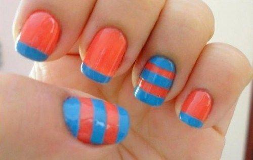 orange nail art ideas