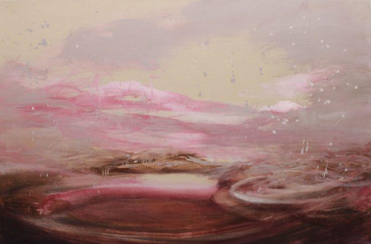 Heli Huotala, Falling Clouds, öljy ja akryyli kankaalle, 80 x 120 cm, 2016, 2300 € ( sis. alv 10%)