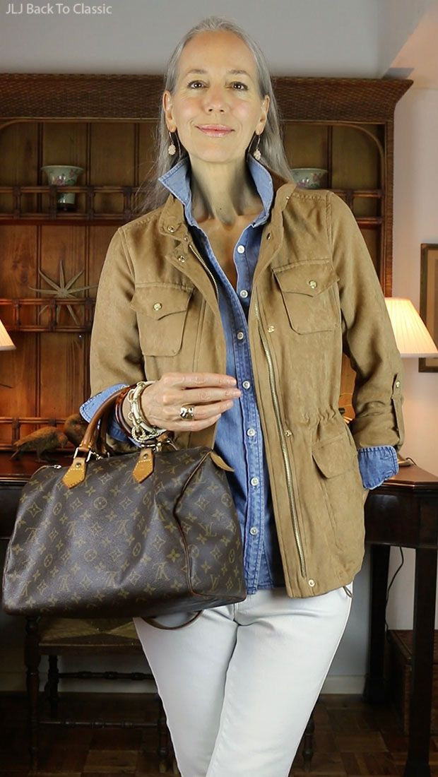 1cb4a7a170 (Video) Warm-Weather Fall Casual OOTD  Cinched-Waist Jacket