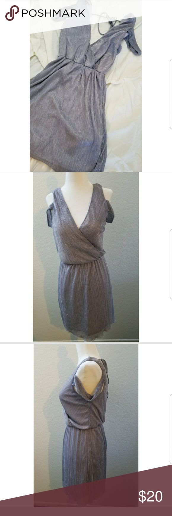 Charlotte Russe Silver Sparkly Dress Charlotte Russe Silver Sparkly Dress perfect for the holidays.  Size: Medium   Used once looks brand new Charlotte Russe Dresses
