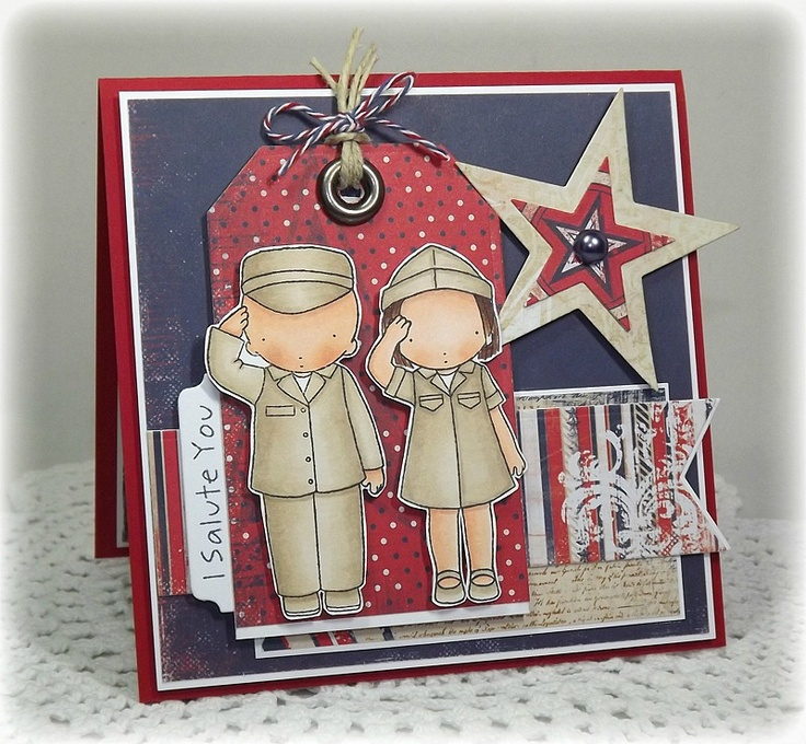The Scalloped Edge: I Salute You  I salute all the men and women who are serving now or have served our country!  Love Jackie's card!  Could it be any more perfect! :)