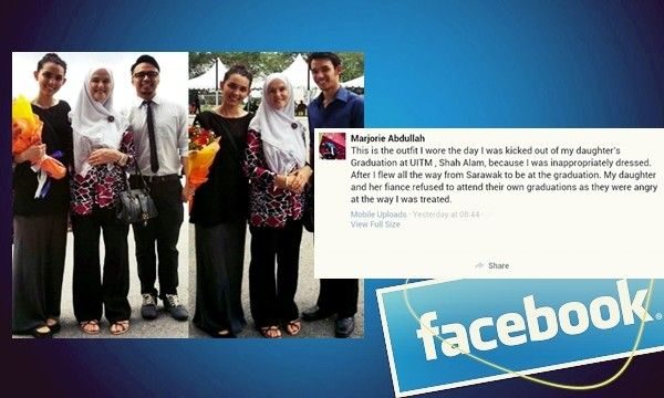 Ibu dihalang saksikan konvokesyen anak di UiTM, tak patuhi etika pakaian - http://malaysianreview.com/115047/ibu-dihalang-saksikan-konvokesyen-anak-di-uitm-tak-patuhi-etika-pakaian/