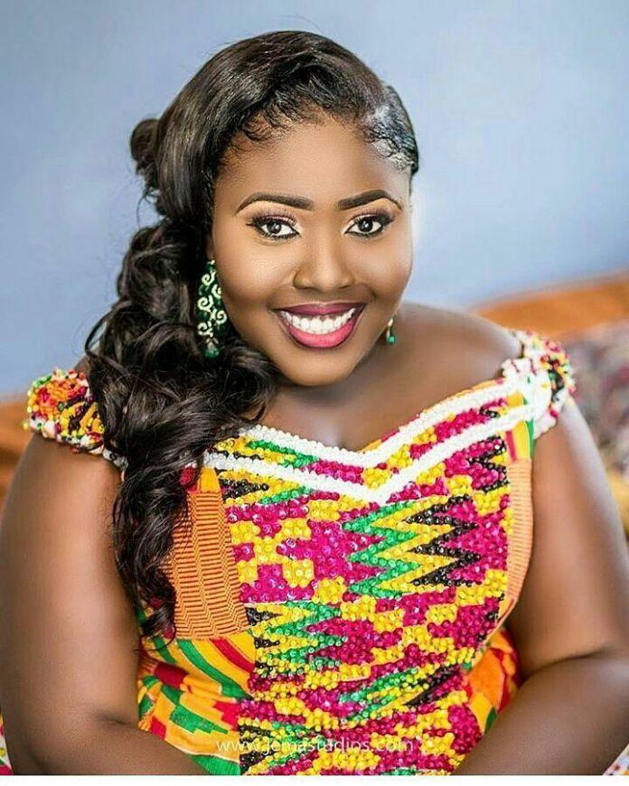 beautiful woman in a colorful kente dress, kente styles, kente fashion, kente cloth, kaba and slit, women's fashion, african fashion, african wear