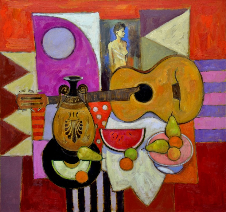 Jack Morrocco - Parlour Guitar and Greek Vase