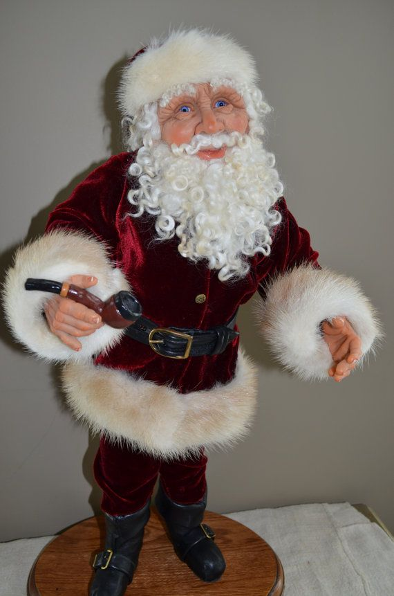 A hand sculpted hand crafted Old World Santa by AupetitMarket