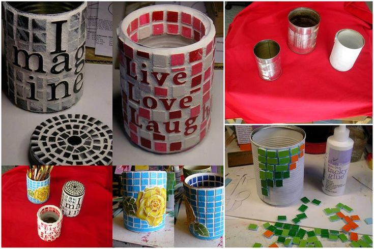 recycling tin cans