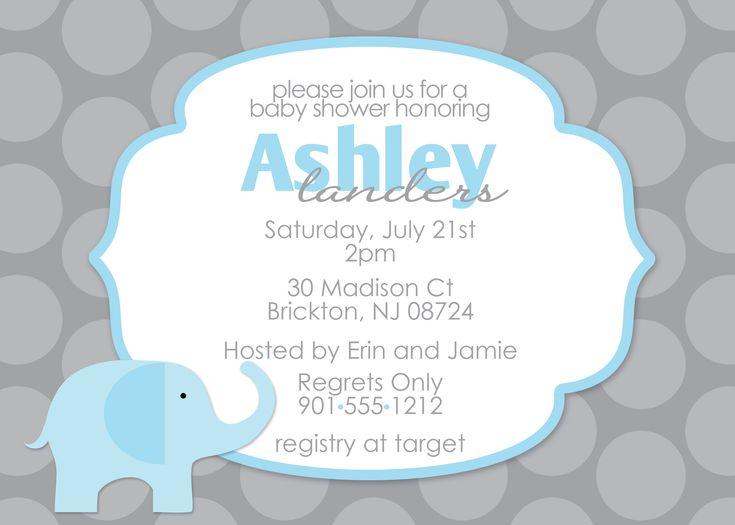 10 best impressive elephant baby shower invitations cartoon images baby shower invitations polkadot grey background blue cartoon elephant baby shower invitations lovely mom and filmwisefo