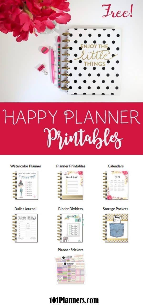 Free Happy Planner Printables | Planner / Calendar