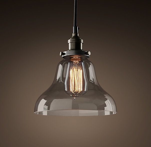 Smoke Glass Boulangerie Filament Pendant